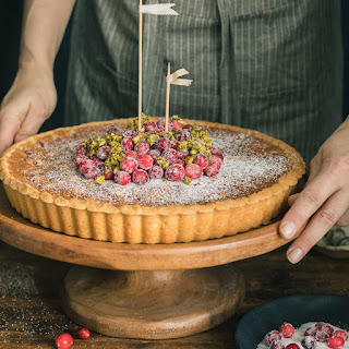 Cranberry Tart with Almond Frangipane.