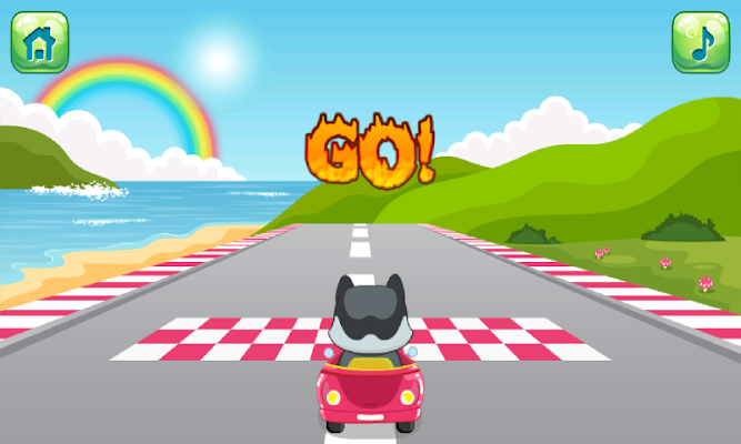 Kindergarten ABC Car Game - screenshot