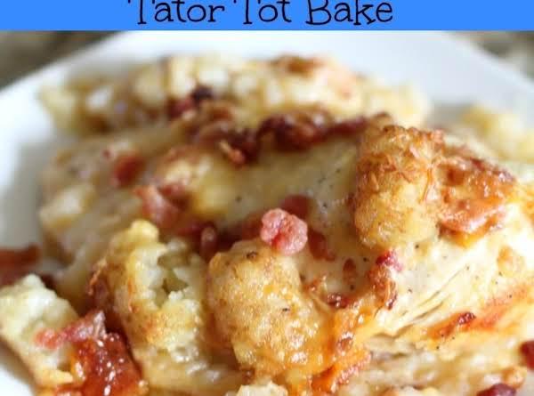 Crock Pot Cheesy Chicken, Bacon, & Tator Tot Bake