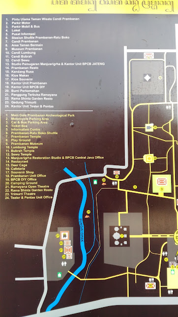 Map of Prambanan compound