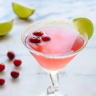 Cranberry St. Germain Cocktail.