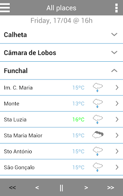 MadeiraWeather - screenshot