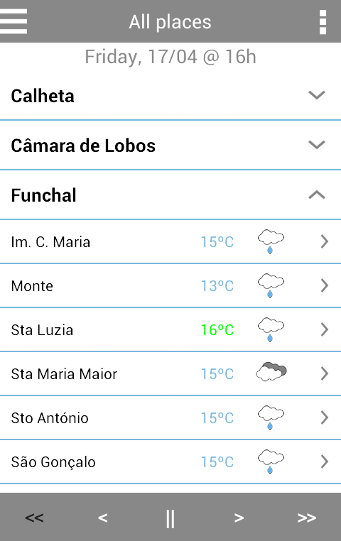 MadeiraWeather- screenshot