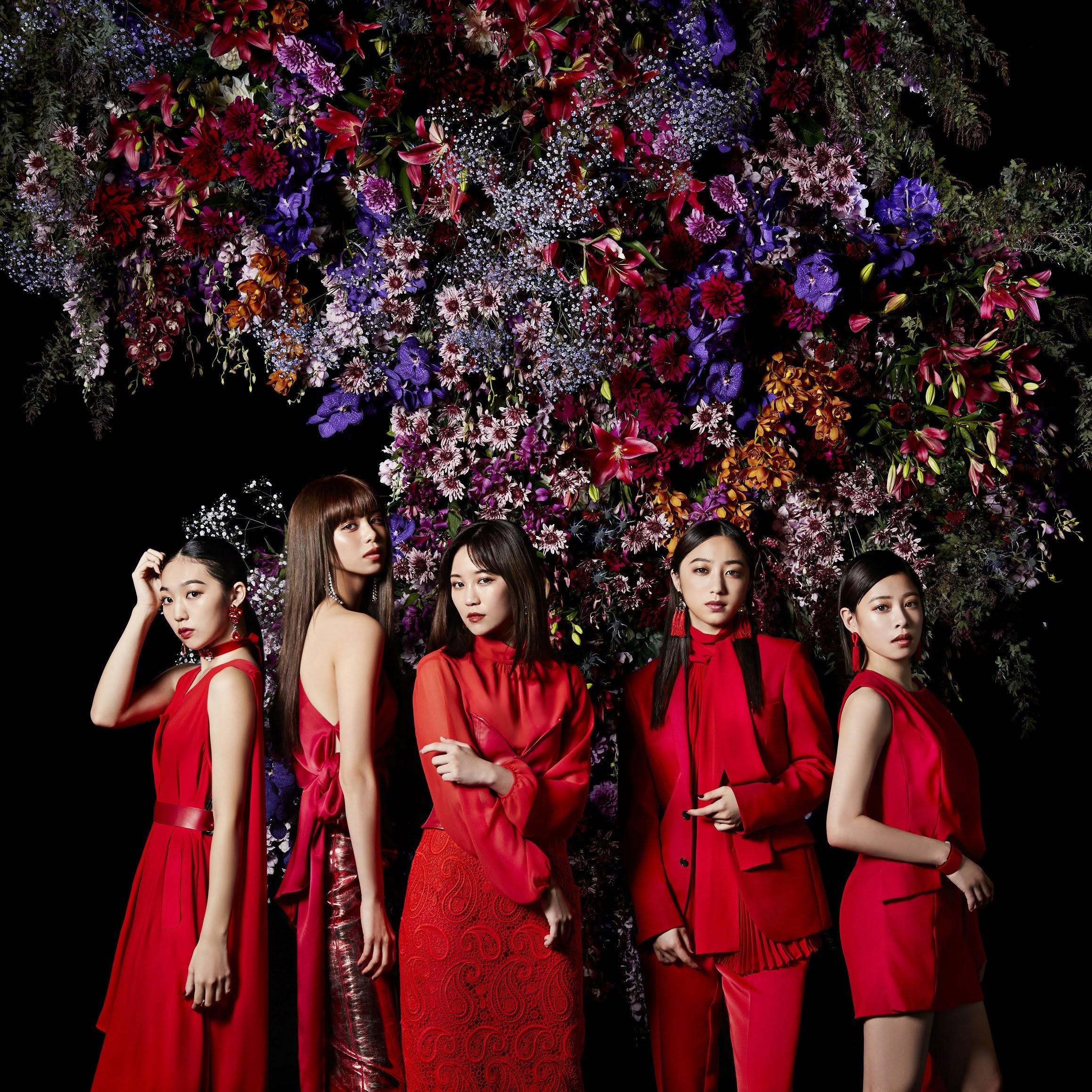 "Capa do single digital ""Kurenai no Dress""."