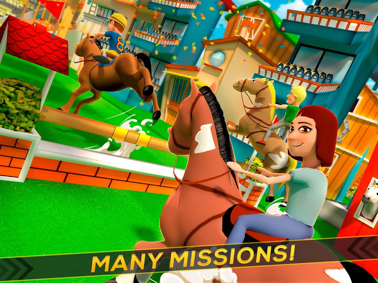 Cartoon Horse Riding - Derby Racing Game for Kids- screenshot