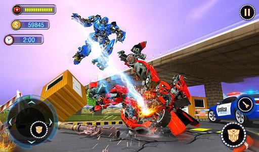 US Robot Car Transform - Police Robot Fighting 1.0.1 screenshots 13