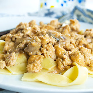 Healthy Turkey Stroganoff