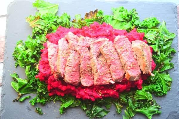 Steak With Beetroot Mash Recipe