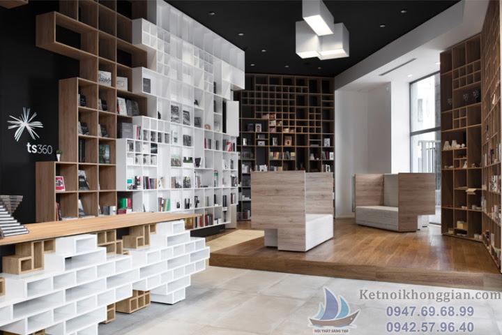 thiết kế nhà sách đẹp nhất tại ý, thiết kế nội thất nhà sách