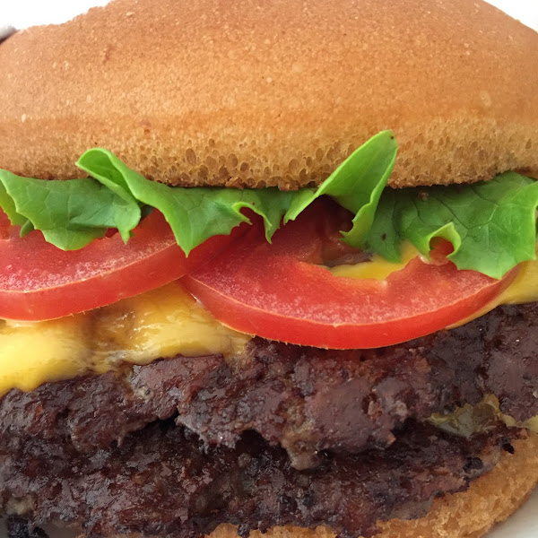 Double shack burger on a gluten free bun