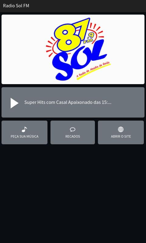 Rádio Sol FM- screenshot