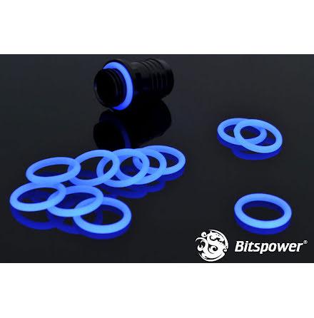 """Bitspower O-ring for 1/4""""BSP gjenger, 10 stk, UV Blue"""