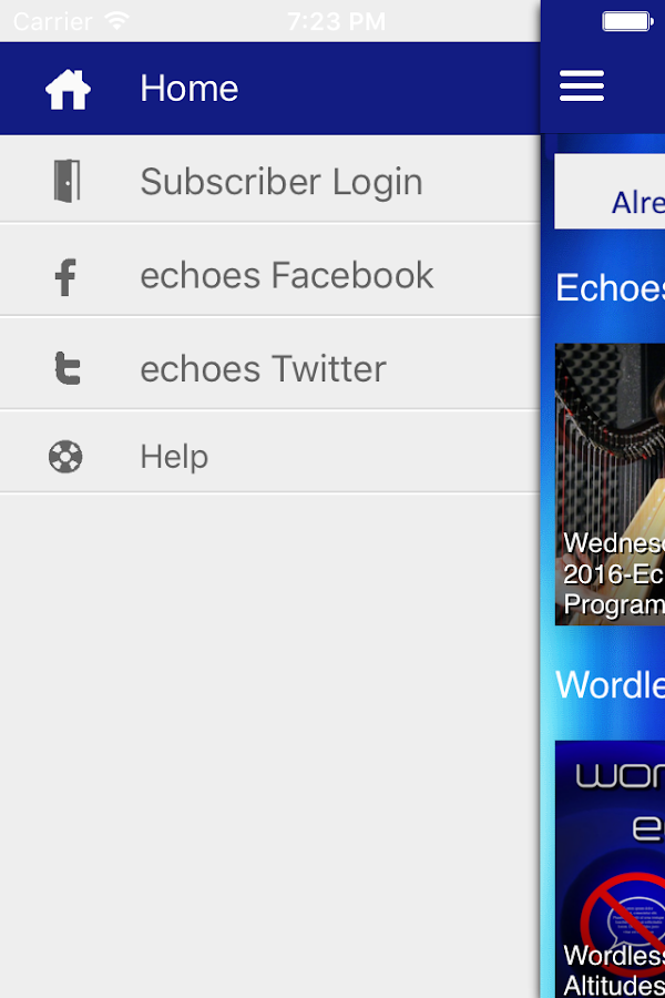 Echoes App- screenshot
