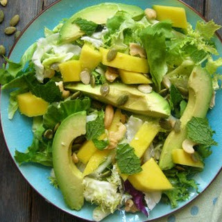 Mango & Avocado Spring Salad with a Honey Lime Dressing