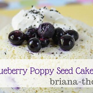 Blueberry Poppy Seed Lemon Cake in a Bowl