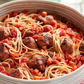 Spaghetti and Turkey Meatballs.