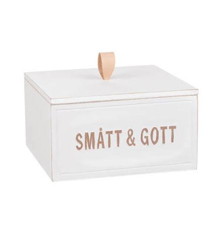 """Trälåda """"Smått & Gott"""" med lock"""