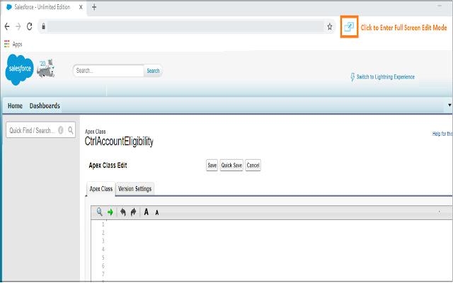 Salesforce Advanced Code Editor