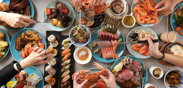 漢來海港餐廳|30幾種生猛海鮮100多道現場烹調國際料理 大盤點南台灣吃到飽霸主的改裝亮點