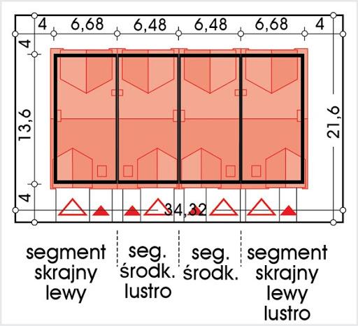 Hubert 2 zestaw 4 segmentów L+SL+S+LL - Sytuacja
