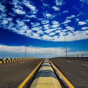by Oemar Patex - Transportation Roads ( sky, blue, road, city, bridge, transportation )