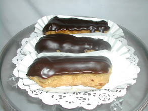 """Photo: This dessert come as a pair: 5"""" Eclaires!-----------HeAvEn!!!!"""