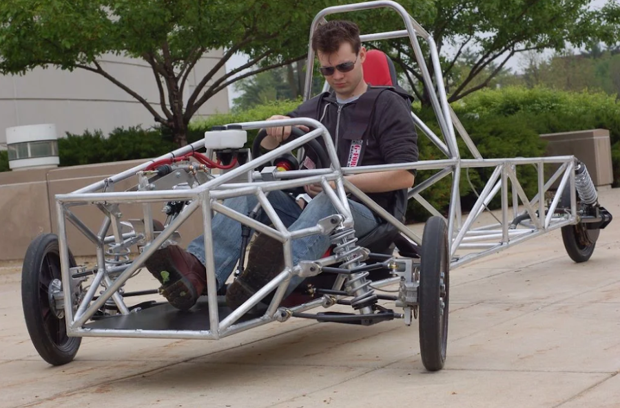 A three-wheeled design project Michael worked on in college.