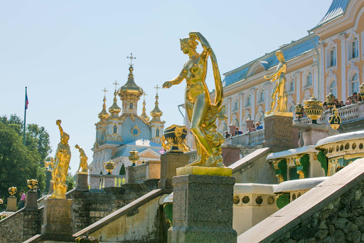 Peterhof-Palace-statues.jpg - More than 200 statues and 144 fountains dot the 500-acre gardens of Peterhof Palace.