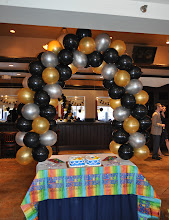Photo: Cake Table Balloon Arch
