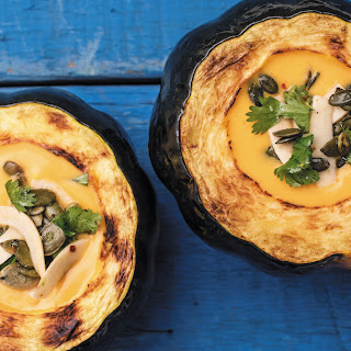 Kabocha Squash Soup With Toasted Pepitas.