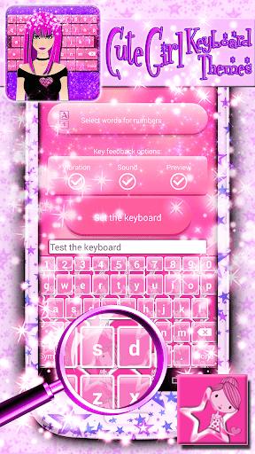Cute Girl Keyboard Themes