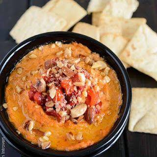 Roasted Red Pepper Almond Hummus