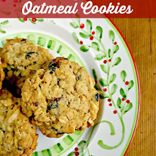 Cranberry Almond Oatmeal Cookies #ChristmasCookies