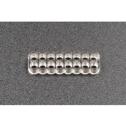 Kabelkam for 16 pins kabel, 2x8 Ø4mm hull, klar