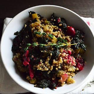 Vegan, Healthy, Gluten-Free Quinoa Stuffing.
