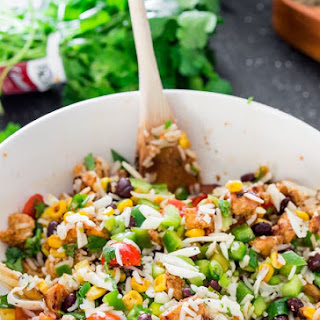 Mexican Chicken and Rice Salad.
