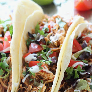 Slow Cooker Cilantro Lime Chicken Tacos.