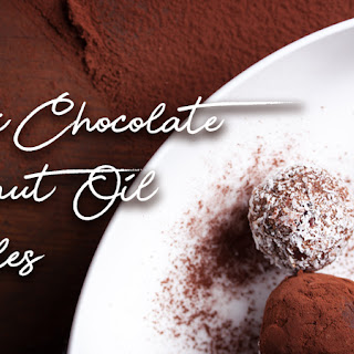 Dark Chocolate Coconut Oil Truffles Recipe