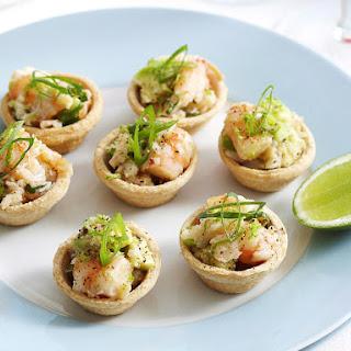 Shrimp, Crab and Avocado Bites.