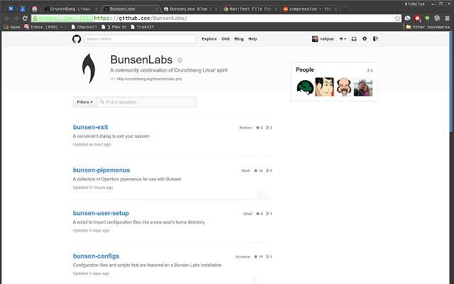 BunsenLabs Blue Dark Scrollbars