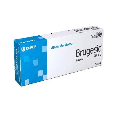 Ibuprofeno Brugesic 200 mg X 10 Comprimidos  Elmor 200 mg X 10 Comprimidos