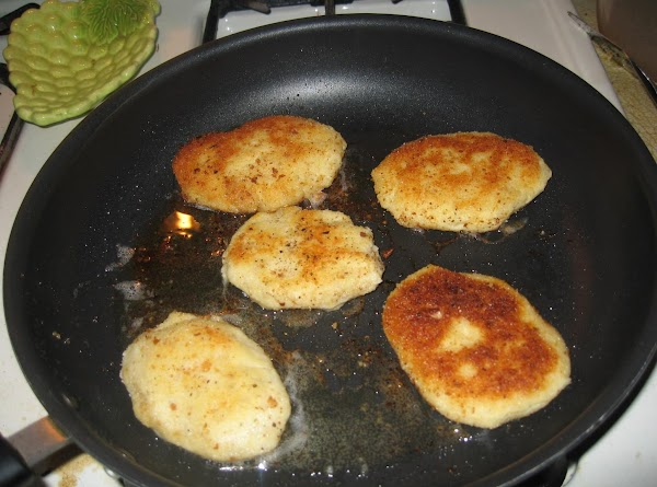 In a large bowl, mix all ingredients.Form pancakes 2-3 inches big and fry on...