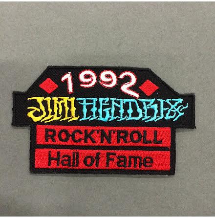 Jimi Hendrix - Rock N Roll Hall of Fame - Tygmärke