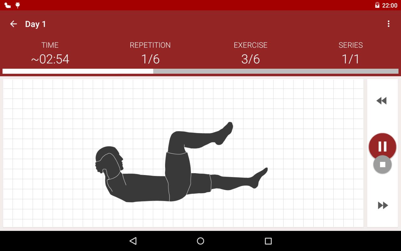 Abs workout - screenshot