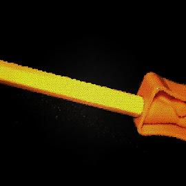 A Digital art of texture  by Mihir Ranjan - Digital Art Abstract ( a digital art of texture, texture, digital art, fine art, digital art of texture of yellow pencil & sharpener )