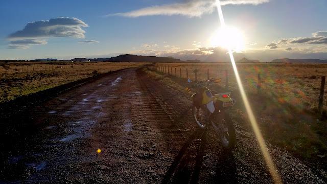 Riding the gravel road on Sagebrush Bench