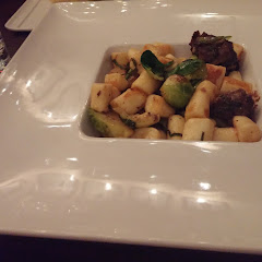 Potato Gnocchi with braised beef and Brussel sprouts