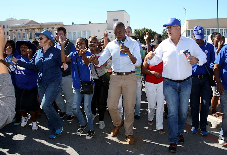 Democratic Alliance leaders Mmusi Maimane, Helen Zille and Athol Trollip. Picture: THE HERALD