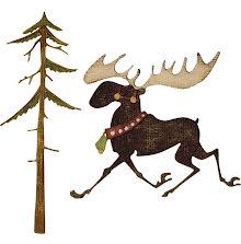 Tim Holtz Sizzix Thinlits Dies 12/Pkg - Merry Moose