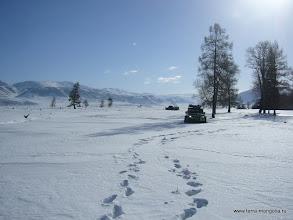 Photo: Курайская степь в этом году удивляет обилием снега.
